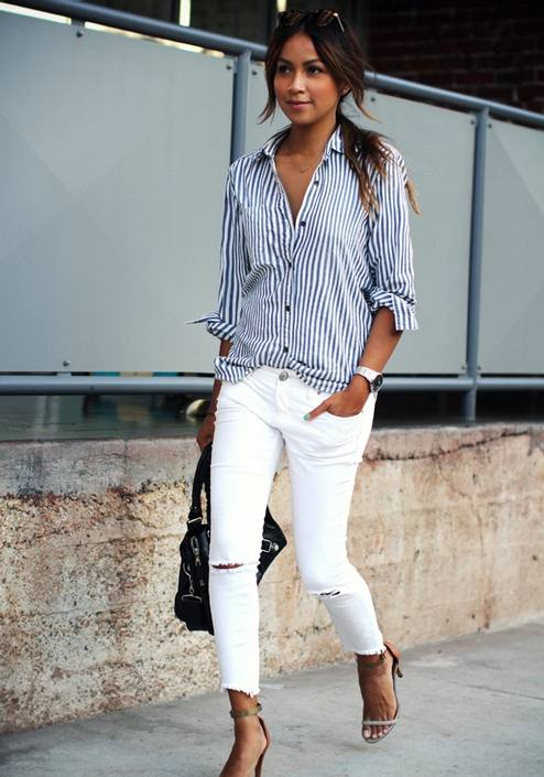 On aime ce look simple mais efficace de Sincerely Jules